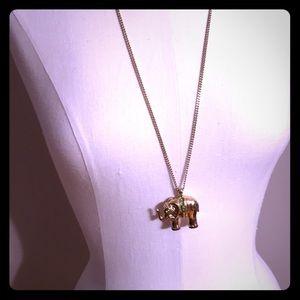 Elephant long necklace